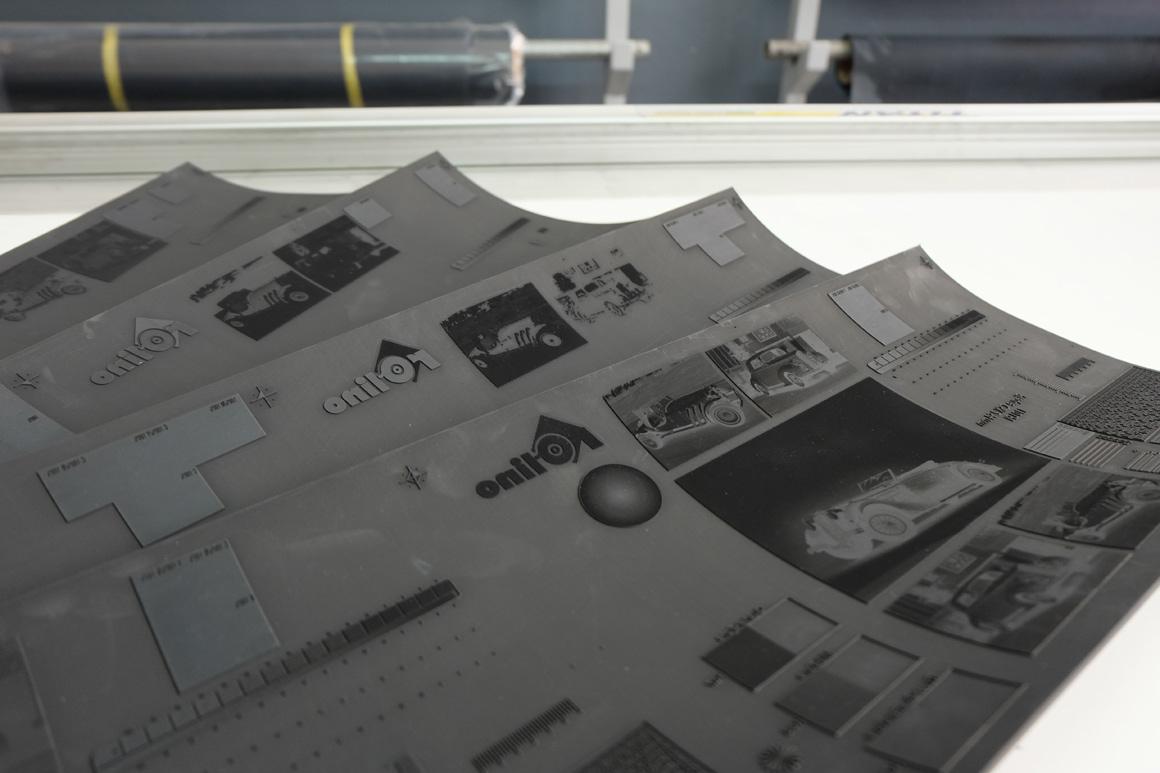 Cliché CSX gravé laser pour impression flexographie