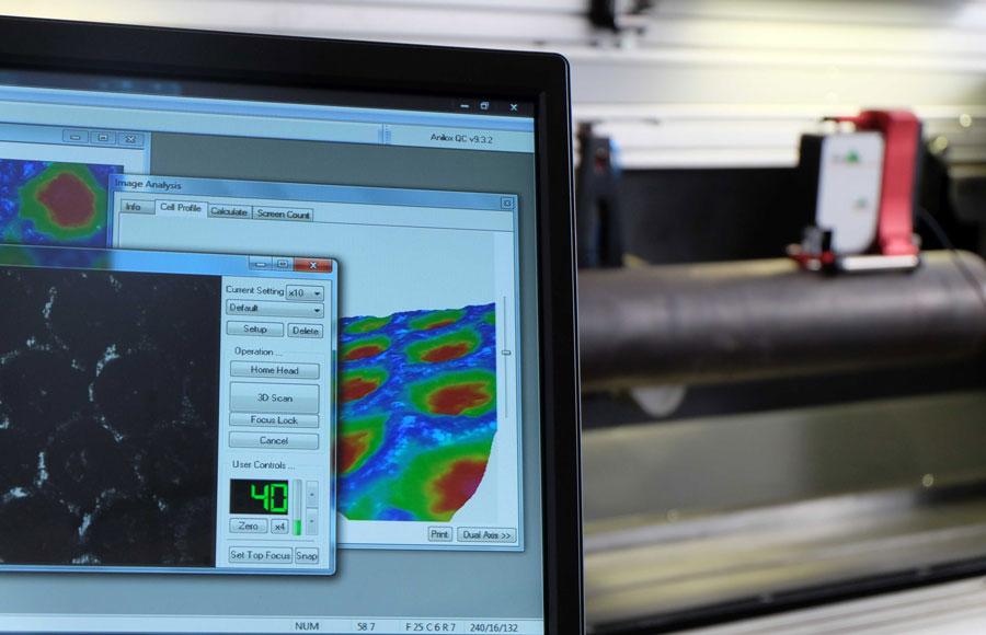 Nettoyage anilox de précision avec production de rapport digital détaillé