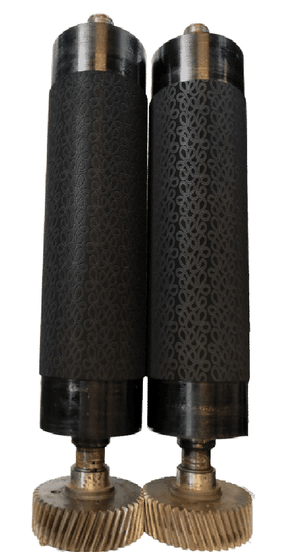 Rouleau de gaufrage gravé laser wool embossing roller